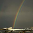 Pot of Gold, Rainbow on Rocks by bazcelt