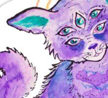 Purple Alien Kitty Sticker