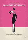 No204 My Breakfast at Tiffanys minimal movie poster by Chungkong