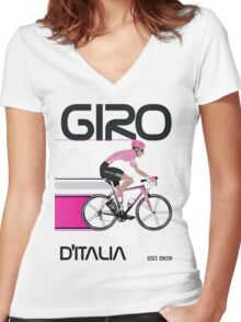 GIRO D'ITALIA Women's Fitted V-Neck T-Shirt