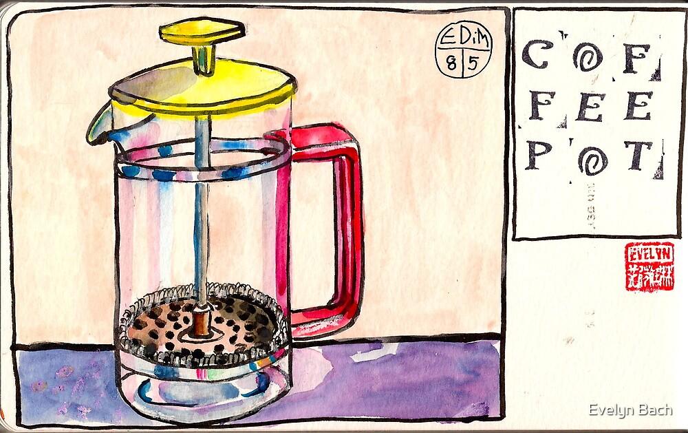 EDiM #8  draw a coffeepot by Evelyn Bach