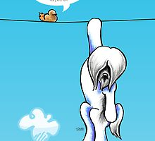 Lhasa Apso Hang in There by offleashart