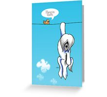 Lhasa Apso Hang in There Greeting Card