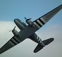 C-47 FLY OVER by mike  jordan.