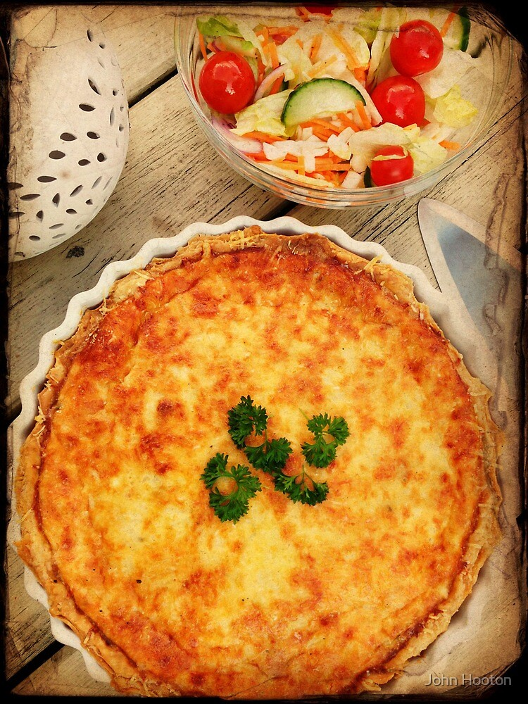 3 Cheese Spinach and Mushroom Quiche by John Hooton