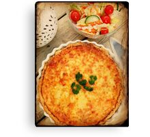 3 Cheese Spinach and Mushroom Quiche Canvas Print