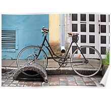 bike on the lock Poster