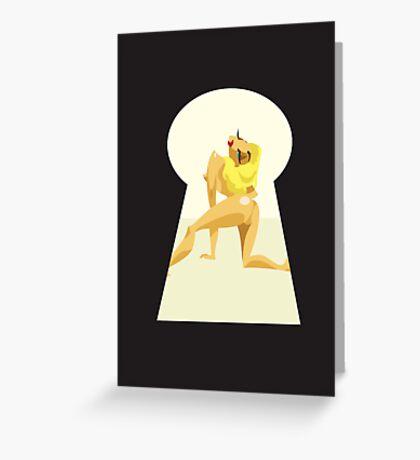 Pin Up Act Greeting Card