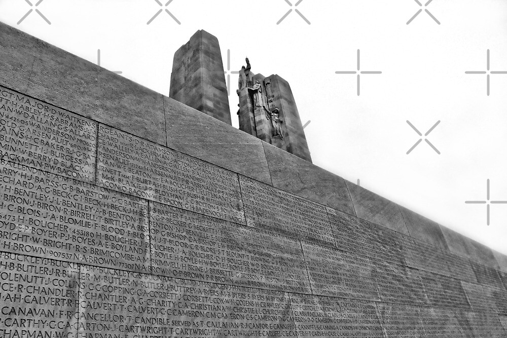 Names of the Missing - Vimy Canadian War Memorial by Angela E.L. Clements