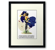 The Graduate Pin Up Blue  Framed Print