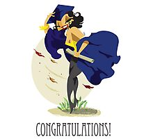 The Graduate Pin Up Blue  Photographic Print