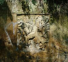 Limestone rock VI. -  Czech eagle  by Natas