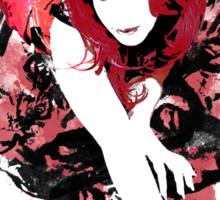Redheaded Corset Sticker