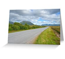 Road to to the horizon Greeting Card