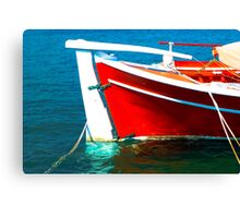 Blue,Red and White Canvas Print