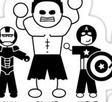 The Family That Avenges Together Sticker
