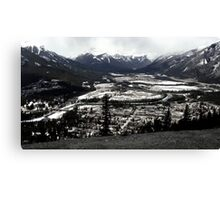 Hiking in a Winter Wonderland Canvas Print