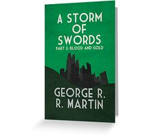 A Storm of Swords Greeting Card