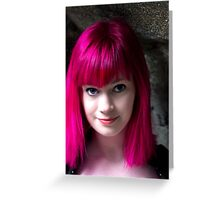 Portrait of pink  Greeting Card