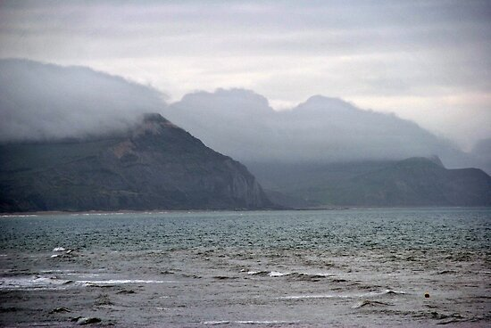 Sea mist over Lyme Regis by Photography  by Mathilde