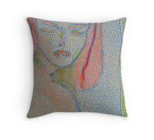 Melange II--11 of 13--Crimson & Caramel Throw Pillow