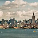 Panorama of manhattan skyline in new york city by Prashant Agrawal
