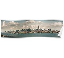 Panorama of manhattan skyline in new york city Poster