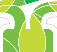Green energy light bulb Sticker