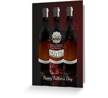 Wine Bottles Father's Day Greeting Card No 1 Dad Greeting Card