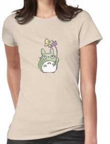 Totoro Flowers Womens Fitted T-Shirt