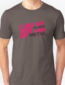 I Like My Coffee Black Just Like My Metal Unisex T-Shirt