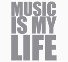 Music Is My Life Baby Tee