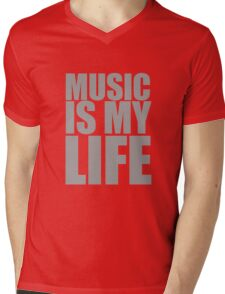 Music Is My Life Mens V-Neck T-Shirt