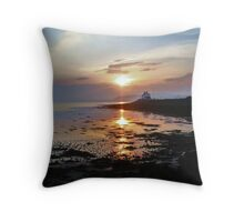 Bay Of Tranquility - Liquid Gold Throw Pillow