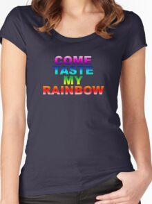 Come Taste My Rainbow Women's Fitted Scoop T-Shirt