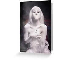 Born of Dew and Desire Greeting Card
