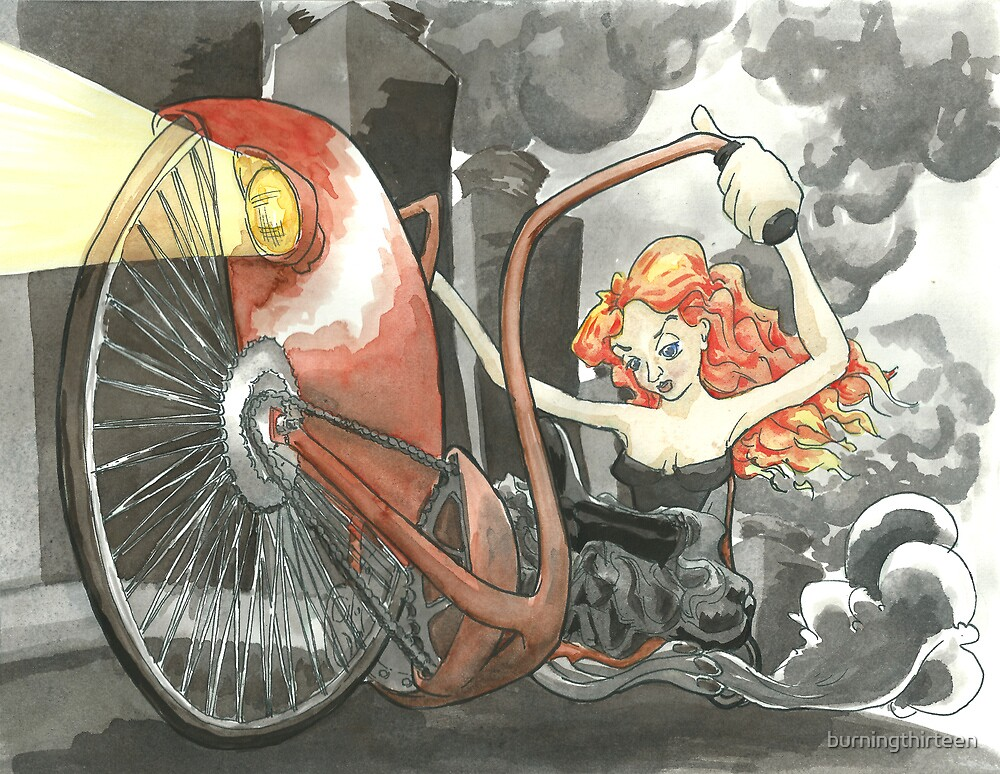 Steam Powered Penny Farthing by burningthirteen