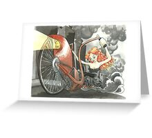 Steam Powered Penny Farthing Greeting Card