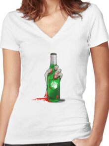 Speed Cola Women's Fitted V-Neck T-Shirt