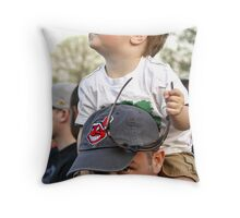 Daddy's Shoulders Throw Pillow