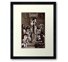 Trial of a Screen. Framed Print