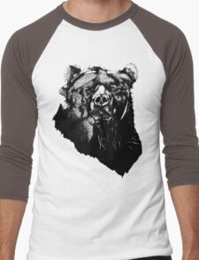 Bear Sketching Men's Baseball ¾ T-Shirt