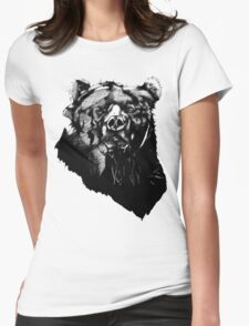 Bear Sketching Womens Fitted T-Shirt