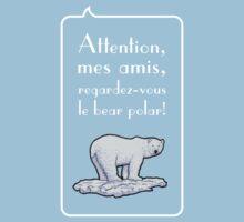 le bear polar speech bubble/transparent small Kids Clothes