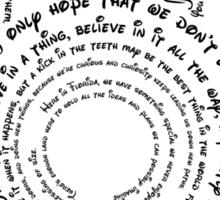 Hidden Quotes Sticker