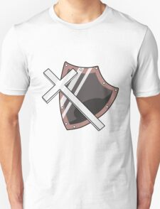 Cross and Shield Graphic T-Shirt