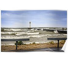 Wind and Waves at the Point Poster