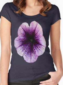 The Petunia's Lavender Veins Women's Fitted Scoop T-Shirt