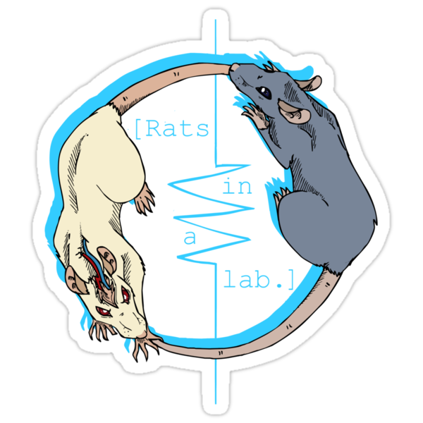 rats in a lab T-shirt by placidplaguerat