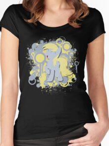 Derpy Splatter Silhouette  Women's Fitted Scoop T-Shirt